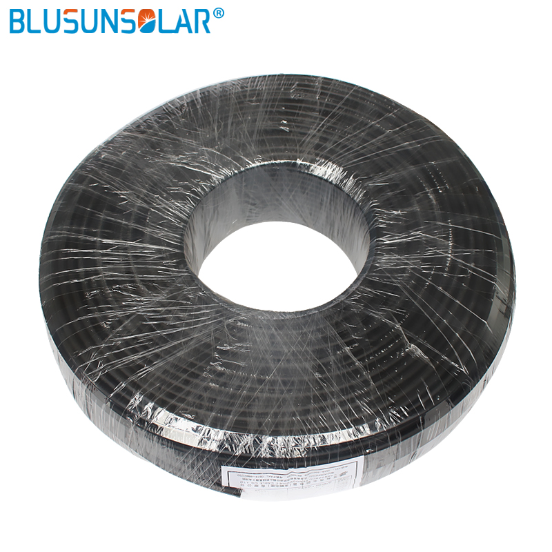 Câble solaire avec conducteur en cuivre, 1 mètre/haute performance, 4 mm2, rouge ou noir, câble Pv, veste XLPE, certification TUV