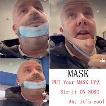 Máscara impresa de algodón para adultos, mascarilla facial reutilizable a prueba de viento, lavable, divertida, 1/3/5 Uds.