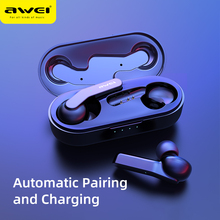 Newset AWEI T10C TWS Wireless  Bluetooth Headphones auriculares bluetooth inalambrico Tap Control Headset Handsfree For xiaomi