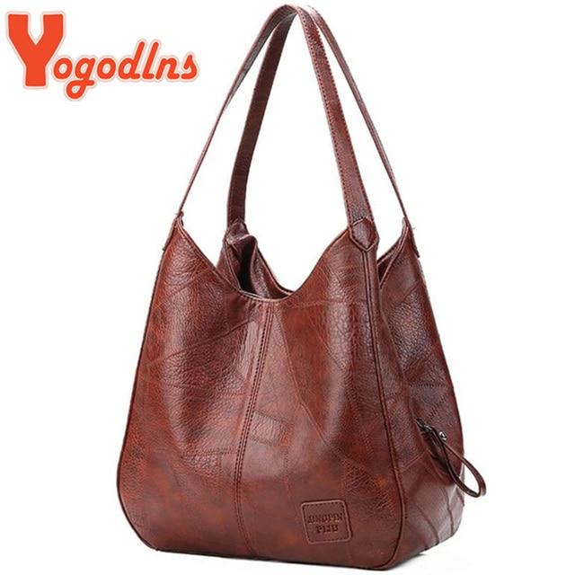 Yogodlns Vintage Women Hand Bag Designers Luxury Handbags Women Shoulder Bags Female Top-handle Bags Fashion Brand Handbags 1