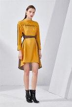 women bandage long sleeve dress winter midi clothes casual yellow plaid clothing 2019 fall fashion new arrivals dresses