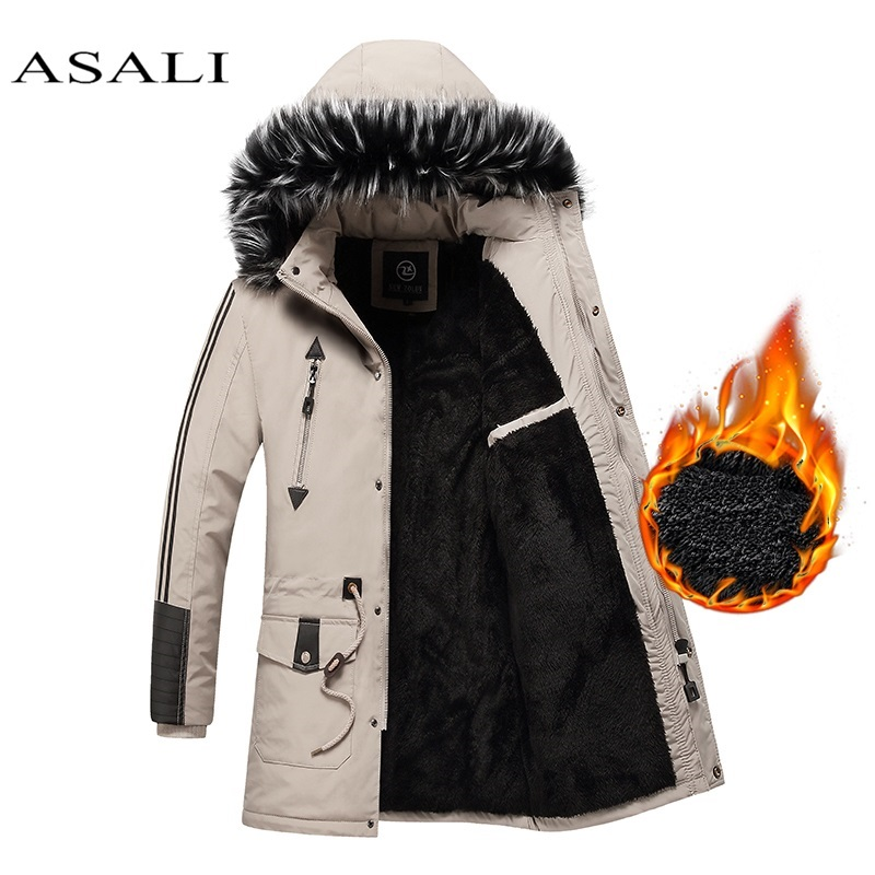 Winter Jacket Outwear Coat Parkas Thicken Warm Men-15-Degree Hooded-Fleece New Jaqueta title=