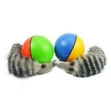 Ruiwjx случайная отправка популярной собачьей кошки ласка моторизованный мячик для домашних животных, кажется, прыгает, забавная подвижная игрушка, товары для домашних животных