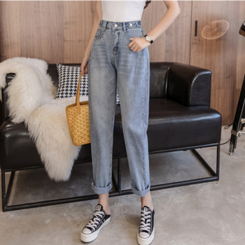 Woman Jeans High Waist Clothes Wide Leg Denim Clothing Blue Streetwear Vintage Quality 2020 Fashion Harajuku Straight Pants