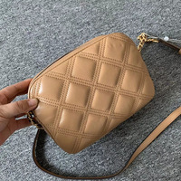 fashion shoulder bag women sheepskin material black brown green red color lady crossbody bag diamond lattice chains bag 4 girl
