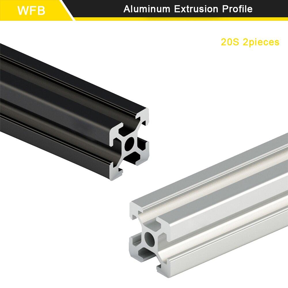 2 шт. 20x20 T слот 6 мм CNC Европейский стандарт рельс алюминиевый профиль экструзии для DIY 3D принтера Бесплатная резка