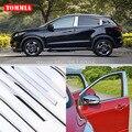 TOMMIA полное окно средний столб литье подоконник хромированная Накладка для стайлинга полосы из нержавеющей стали для Honda Vezel XR-V 2015-2018