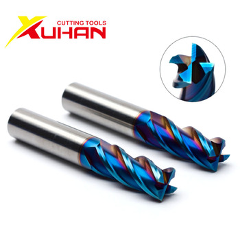 HRC65 4 Flutes carbide end mill milling tools Alloy Coating Tungsten Steel endmils Cnc machine cutting tools end mills 1 pack 8m r0 5 60l 8d 4 flutes micro grain solid carbide aitin coating cnc end milling cutter hrc 45 flat end mill knife