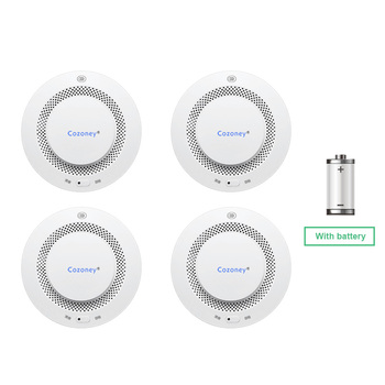 Smoke Detector Fire Alarm Sensor Photoelectric Audible Wireless Home Security Alarm with Fire Emergency Alert Notification gold color emergency alarm button 86 86mm fire alarm emergency switch alarm access control switch with key