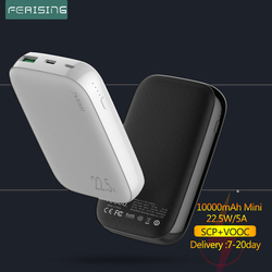 FERISING 10000mAh Mini Power Bank PD QC 3.0 VOOC 22.5W Super Fast Charger Portable Charger Pover bank for Oneplus Xiaomi huawei
