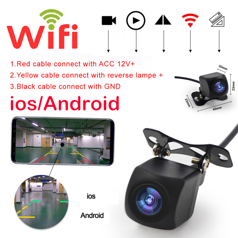 Professional Wifi Car Rear View Camera Car Camera HD Rear View Camera BackUp Car Front Rear Cameras Support Android and Ios