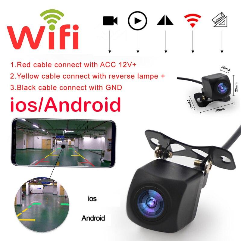 Professionnel Wifi voiture vue arrière caméra voiture caméra HD vue arrière caméra de sauvegarde voiture avant/arrière caméras Support Android et Ios