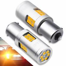 2pcs 9-30V 1156 BA15S P21W LED 3030 SMD 30 LED Bulbs 20W Amber Yellow for Car Auto Turn Signal Backup Reverse Tail Lights Lamp цена и фото