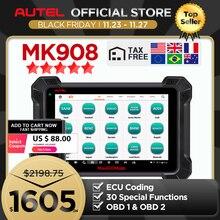 Autel MaxiCOM MK908 (Phiên Bản Nâng Cấp Của MS908) Ô Tô Công Cụ Chẩn Đoán OBD2 Máy Quét ECU Mã Hóa (Cùng Chức Năng Như MS908)