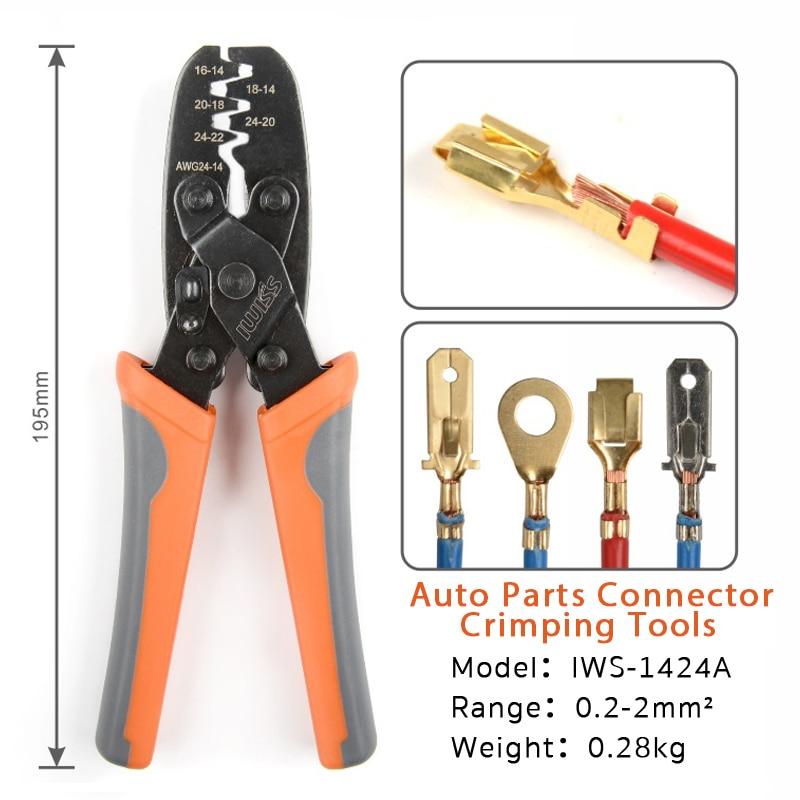 IWS-1424A DR-1 Crimping Plier For Molex Style DELPHI AMP TYCO Terminals Crimper Automotive Terminal Crimp Wiring Harness Tool