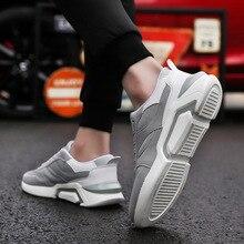 Новинка; сезон весна-лето; стильная обувь; спортивная и прогулочная Мужская обувь из сетчатого материала