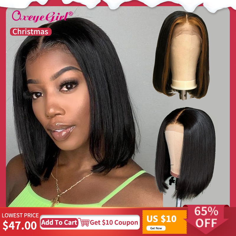 Hot Sale 13x6 Bob Lace Front Wigs Straight Remy Hair Short Human Hair Wigs Brazilian Hair Pre Plucked Lace Front Human Hair Wigs