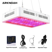 ARKNOAH Indoor Grow Light 1000W Full Spectrum Double Chip 10W LED for Indoor Greenhouse Grow Tent Phyto Lamp for Plants france shipping qkwin 1000w led grow light 100x10w with double chip 10w full spectrum led grow light for indoor plants