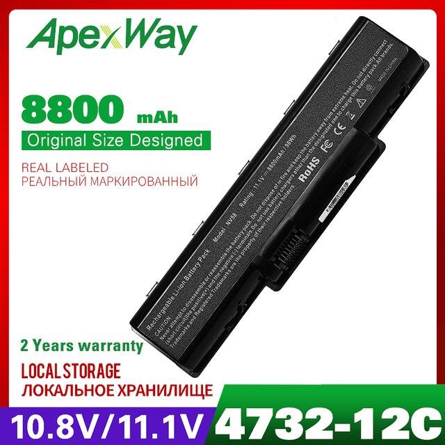 8800mAh סוללה למחשב נייד עבור ACER 5532 5732 7315 7715 Travelmate 4740ZG eMachines D525 D725 E525 E527 E625 E627 E630 e725 E727battery for acerlaptop batterylaptop battery for acer