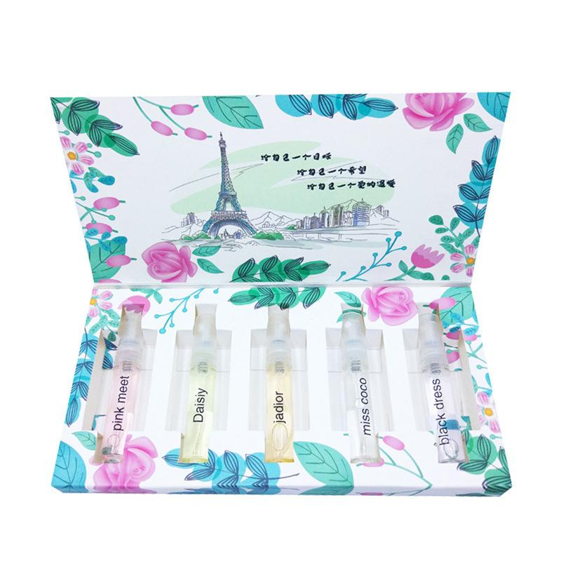 VIBRANT GLAMOUR 5 Pcs/set Mini Women Perfume Atomizer Set Perfumes Body Spray Summer Flower Fragrance 5 Styles Scent