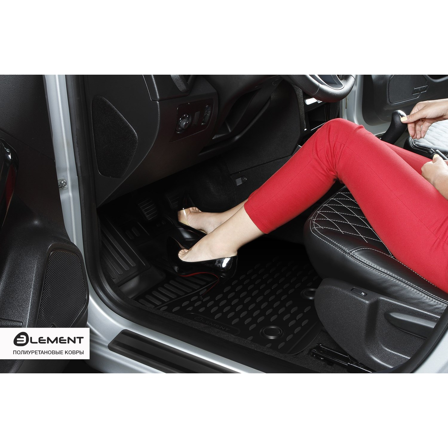 3D Mats In The Interior For TOYOTA C-HR, 2016, 4WD, SUV, 4 PCs ELEMENT3D48129210k