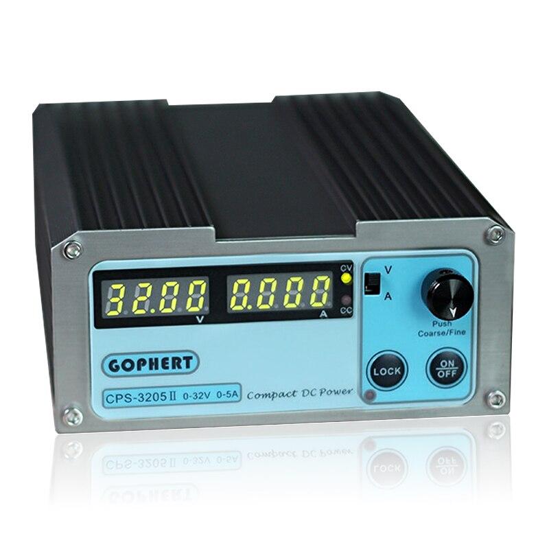 CPS 3205II Mini commutation réglable DC alimentation 32V 5A haute précision 4 affichage numérique régulateur laboratoire alimentations