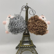 Girl Toys Doll Plush Pendant Keyring Cute Plush Hedgehog Toys Keychain Animal Stuffed Anime Car Fur Gifts For Women(China)