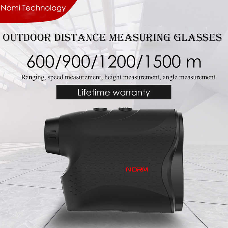 600M 900M 1200M 1500M láser medidor de distancia láser para caza Monocular golf láser alcance buscador cinta métrica