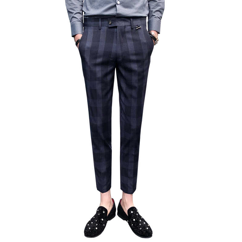 2020 Summer Plaid Pants Mens Checkered Pants Perfume Men Dress Pants Slim Fit Pantalon Hombre Vestir Casual Mens Trousers Office Skinny Pants Aliexpress