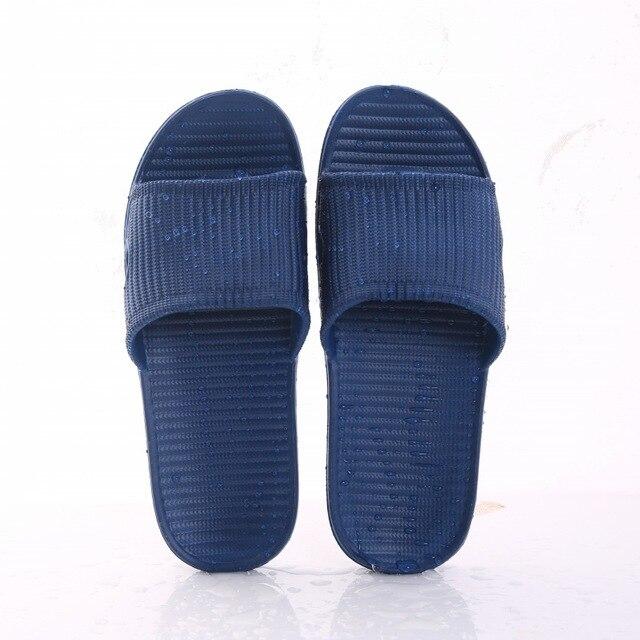 Nova mulher piso interior sapatos planos verão antiderrapante chinelos de banho chinelos de casa feminino confortável zapatillas hombre 5