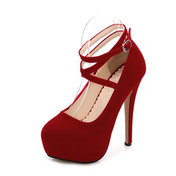 2019 kobiet Sexy klasyczne pompy jesień wodoodporne buty platformy moda klasyczne buty sexy buty na wysokim obcasie damskie WZ-y14-4 tanie i dobre opinie ltarta Cienkie obcasy Super Wysokiej (8cm-up) T-strap Szpiczasty nosek Na co dzień Pasuje prawda na wymiar weź swój normalny rozmiar