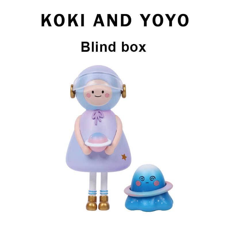 코키와 요요 작은 유령 비옷 인형 블라인드 박스 자동차 장식 인형 모델 인형 장식 귀여운 차고 키트 선물 장난감