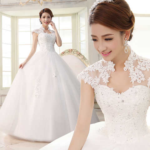 New Arrival High Quality Ball Gown Wedding Dress Lace Applique