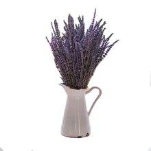 30 hastes de Flores Secas de Lavanda Plantas Ramo Floral Roxo Bouquet Acessórios de Decoração Para Casa Flores Decoração Do Casamento Do Presente Do Partido