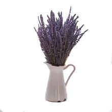 30 茎乾燥したラベンダーの花支店植物花紫花束ホームデコレーションアクセサリーパーティーギフトフローレス結婚式の装飾