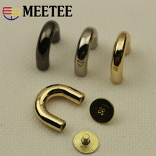 Meetee 5pcs 9/13mm Metal Bag Hang Buckle D Spring Oval Ring DIY Handbags Hardware Accessories Decoration Materials BD458