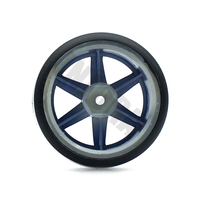INJORA 4Pcs 1/10 Drift Car Tires Hard Tyre for Traxxas Tamiya HPI Kyosho On-Road Drifting Car Spare Parts 6