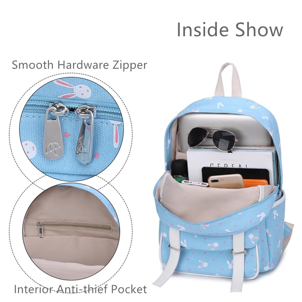 Купить 3 шт/компл синий рюкзак холщовая школьная сумка для девочек