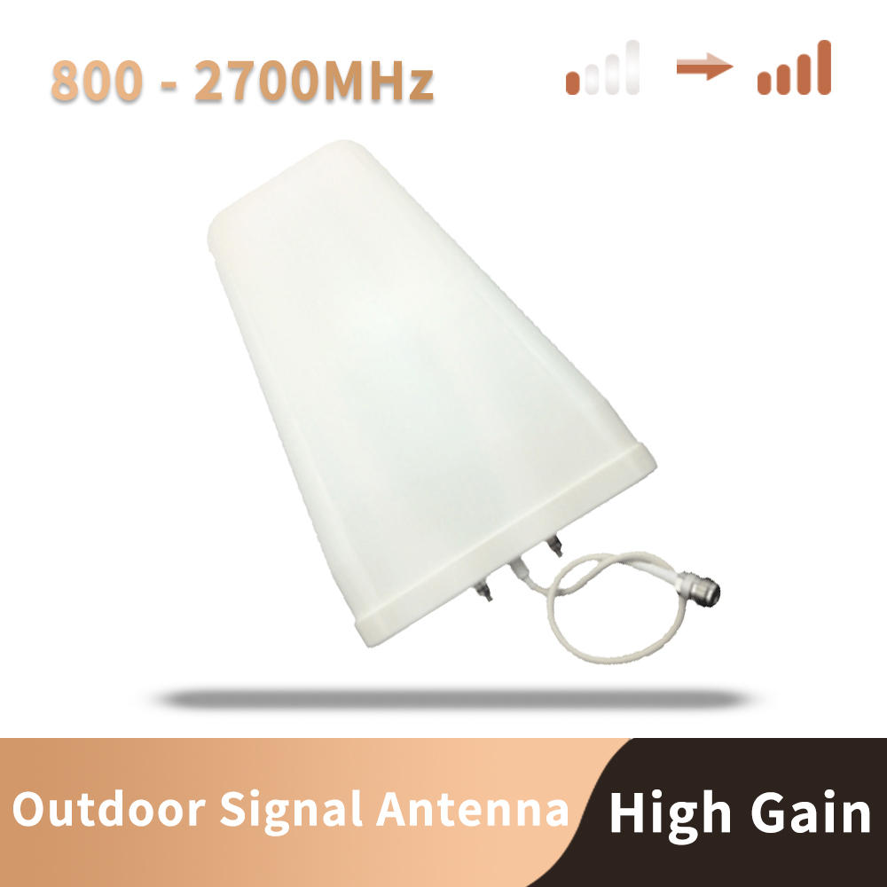 High Gain 800-2700mhz Outdoor Logarithmic Antenna For Cell Phone Signal Booster Repeater Amplifier 3G 4G CDMA GSM DCS