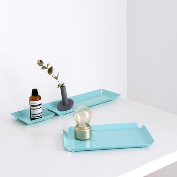 Niebieskie tace akcesoria do ciast do dekoracji imprez perfumy makijaż pierścienie do przechowywania biżuterii talerz słodki dostawca stołu tanie i dobre opinie Stojąca MEDITERRANEAN Drewna