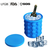 13*14cm Lattices Silicone Ice Bucket Wine Ice Cooler Cube Maker Beer Cabinet Space Saving Kitchen Tools Drinking Whiskey Freeze ice cube maker silicone bucket durable drink beer wine rapid cooling storage drinking whiskey freeze seaside tool 4 7 inch