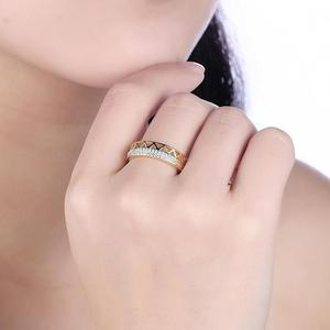 Image 5 - DOM Women Rings 925 Sterling Silver Turquoise Zircon Fashion Gold Finger Rings for Women Wedding Engagement Jewelry Gift SVR224