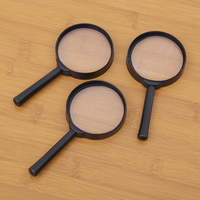 10PCS Handheld Reading 3X Magnifying Loupe Reading Glass Lens Hand Held 60mm Magnifier Office School Supplies