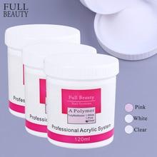 75g acrylique poudre clair rose blanc ongles cristal poudre 3D acrylique ongles conseils Extension constructeur polymère pour système de clou CH789