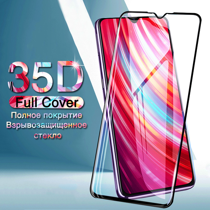 35D Protective Glass For Xiaomi Redmi 7 7A 8 8A Screen Protector Film On For Redmi Note 7 8 8T K20 Pro Full Cover Tempered Glass