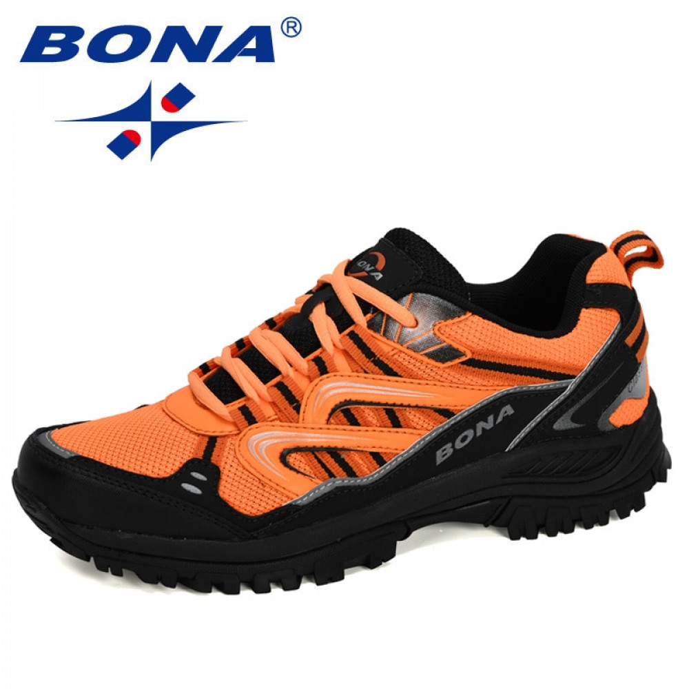 BONA 2020 New Designers Popular Sneakers Hiking Shoes Men Outdoor Trekking Shoes Man Tourism Camping Sports Hunting Shoes Trendy