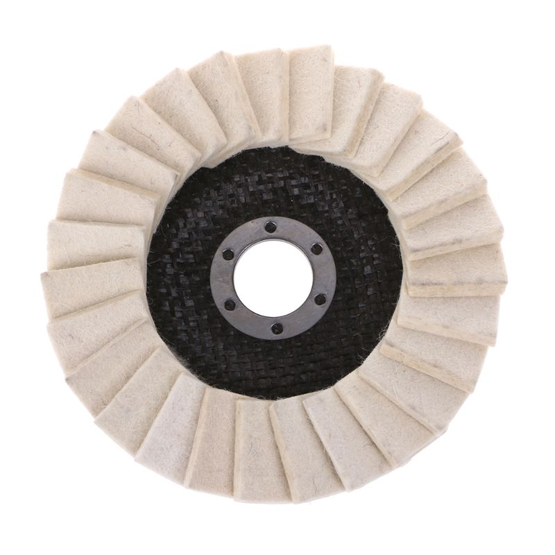 125mm Wool Felt Flap Polishing Disc Buffing Pads For Glass Marble Metal Ceramic