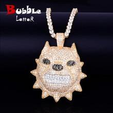 Collier de tête de chien, pendentif avec chaîne de Tennis, couleur or, Zircon cubique, bijou Hip hop Rock Steet pour hommes