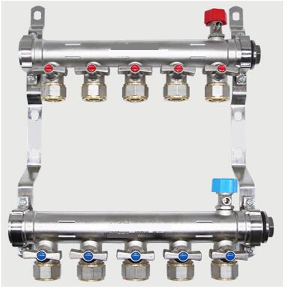 Floor Heating Manifold Floor Heating Pipe Geothermal Pipe Water Collector Copper Forging Thickening