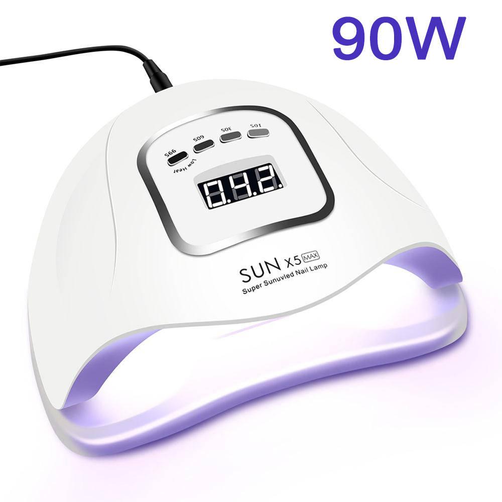 Nail-Lamp Nail-Dryer-Machine Lcd-Display Manicure Uv-Gel-Nail-Polish LED Curing Motion-Sensing